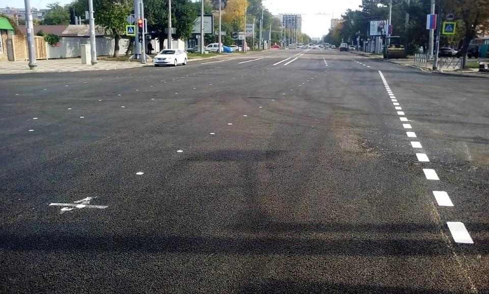 В Краснодаре на перекрестке Тургенева и Северной пустили общественный транспорт