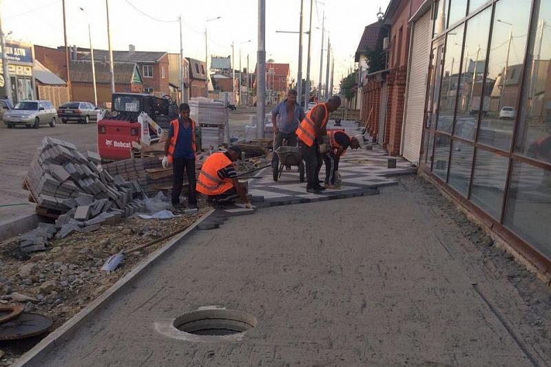 В Краснодаре на улице Тургенева уложили асфальт еще на двух кварталах
