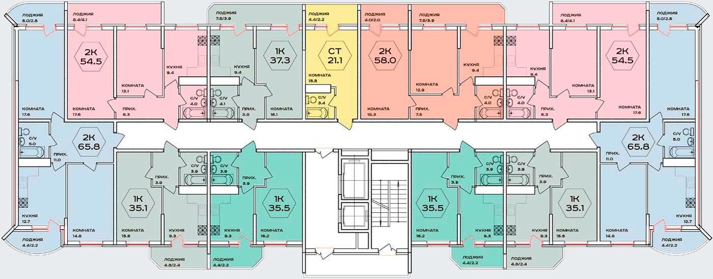 Планировочные решения комплекса «Флотилия»