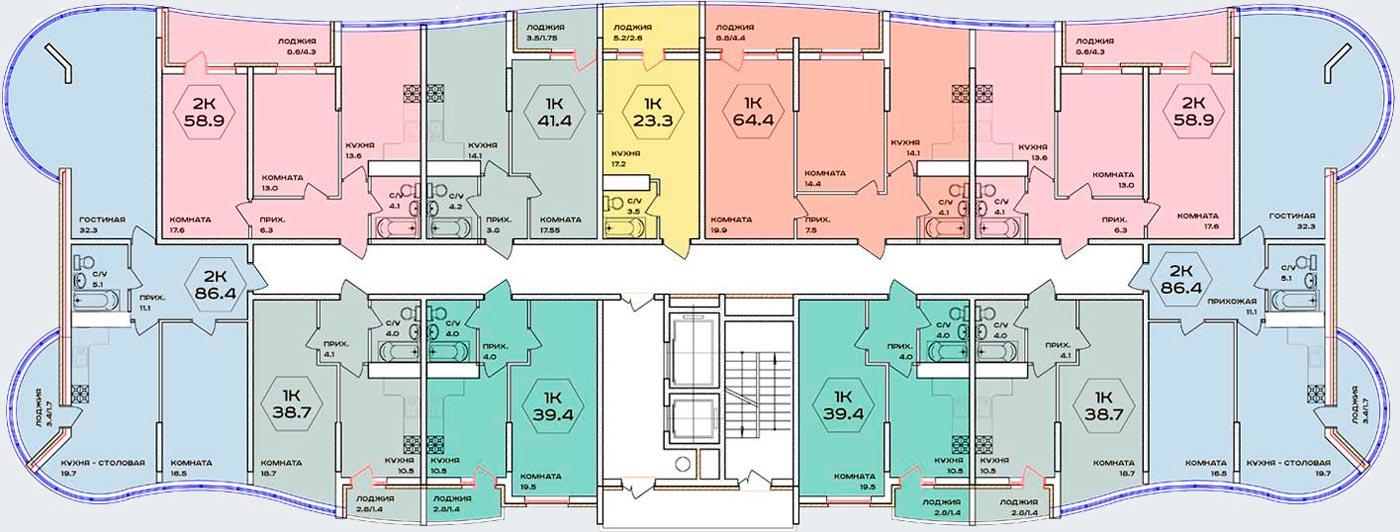 Расположение жилого комплекса «Флотилия»