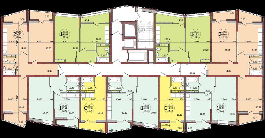 Планировочные решения комплекса «Гарантия» - БС2