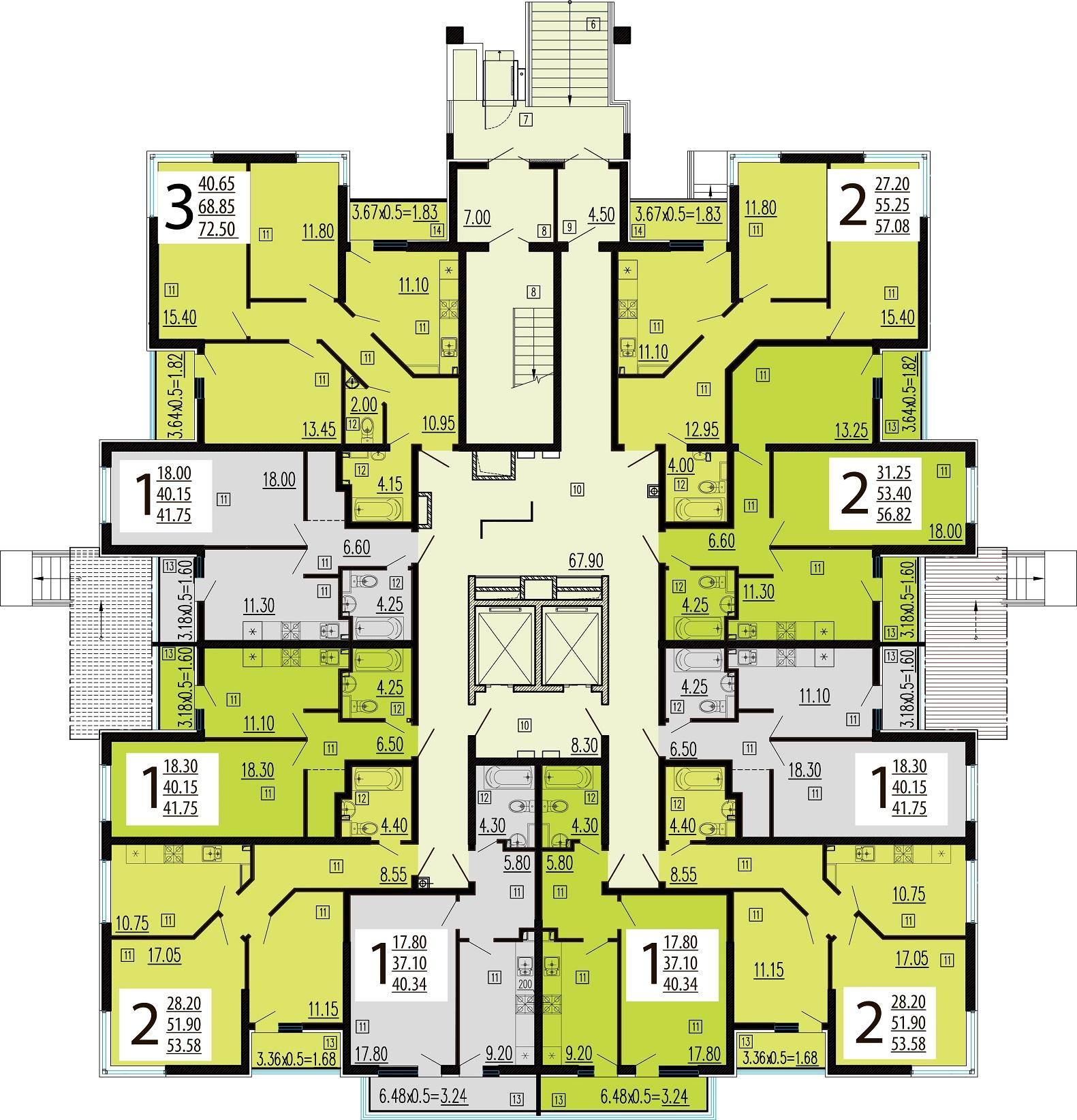 Планировочные решения комплекса «Краснодар Сити»