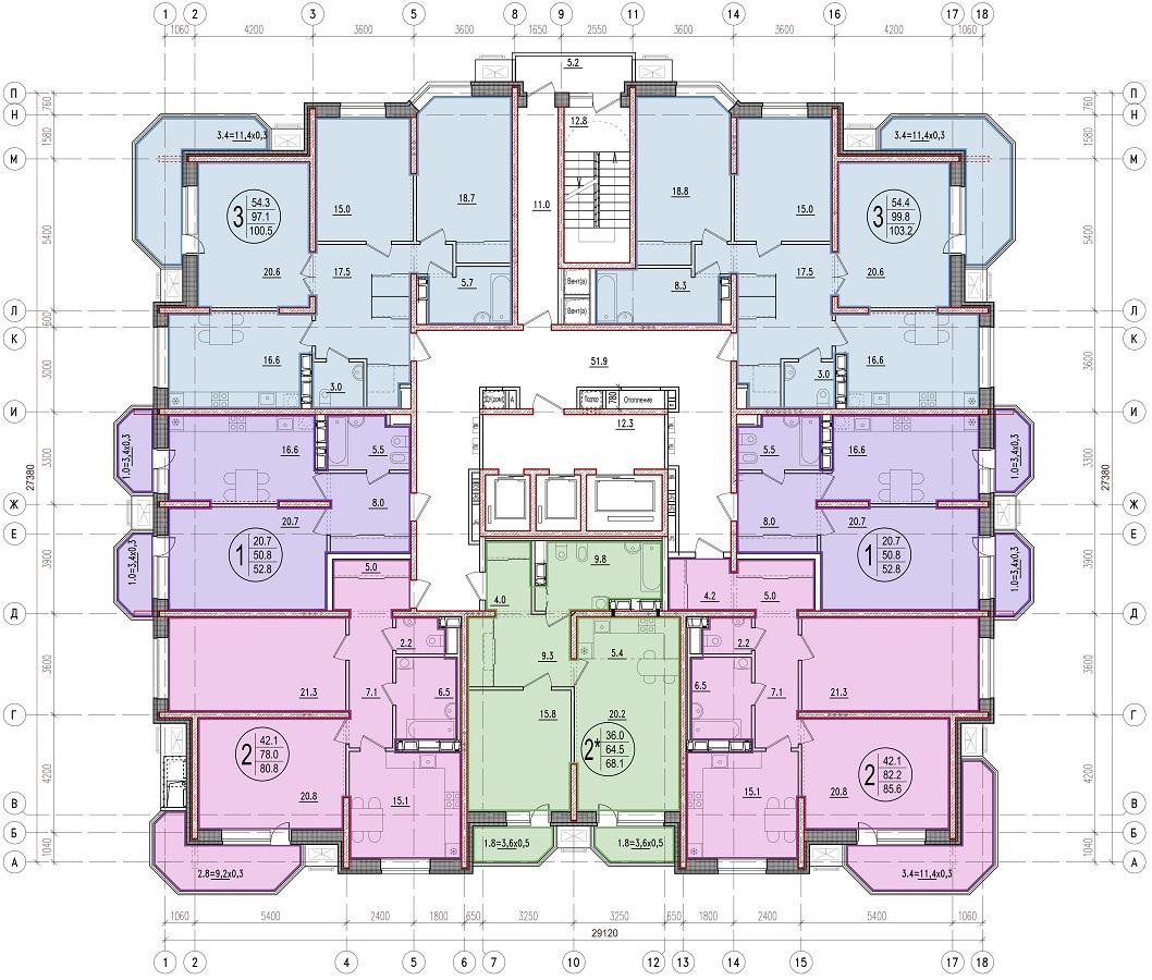 Планировочные решения комплекса «Дом на Березанской»
