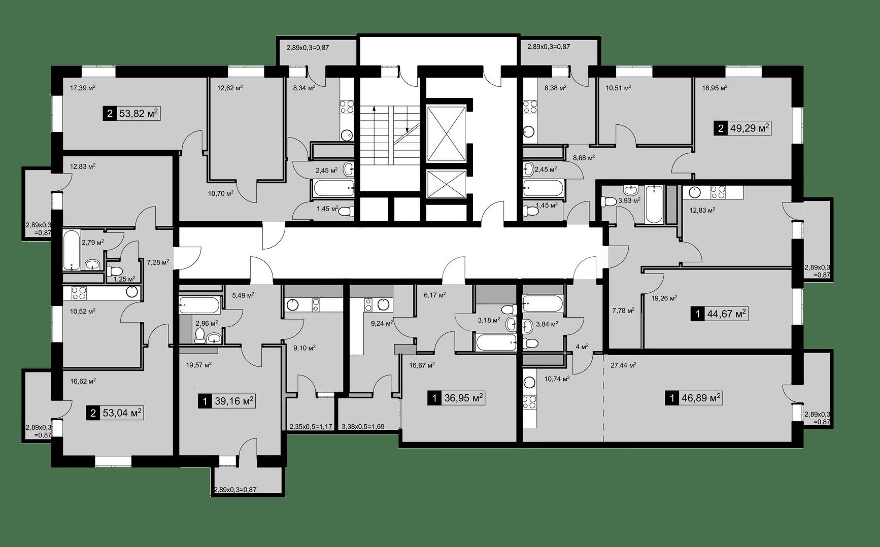 Планировочные решения комплекса «Дом на Школьной»