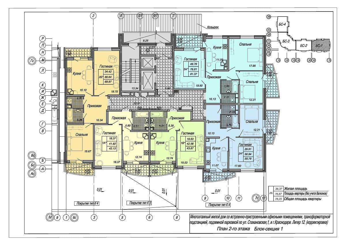 Жилой комплекс Стахановская 12 Этаж 2
