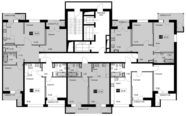 Расположение жилого комплекса «Стрижи»