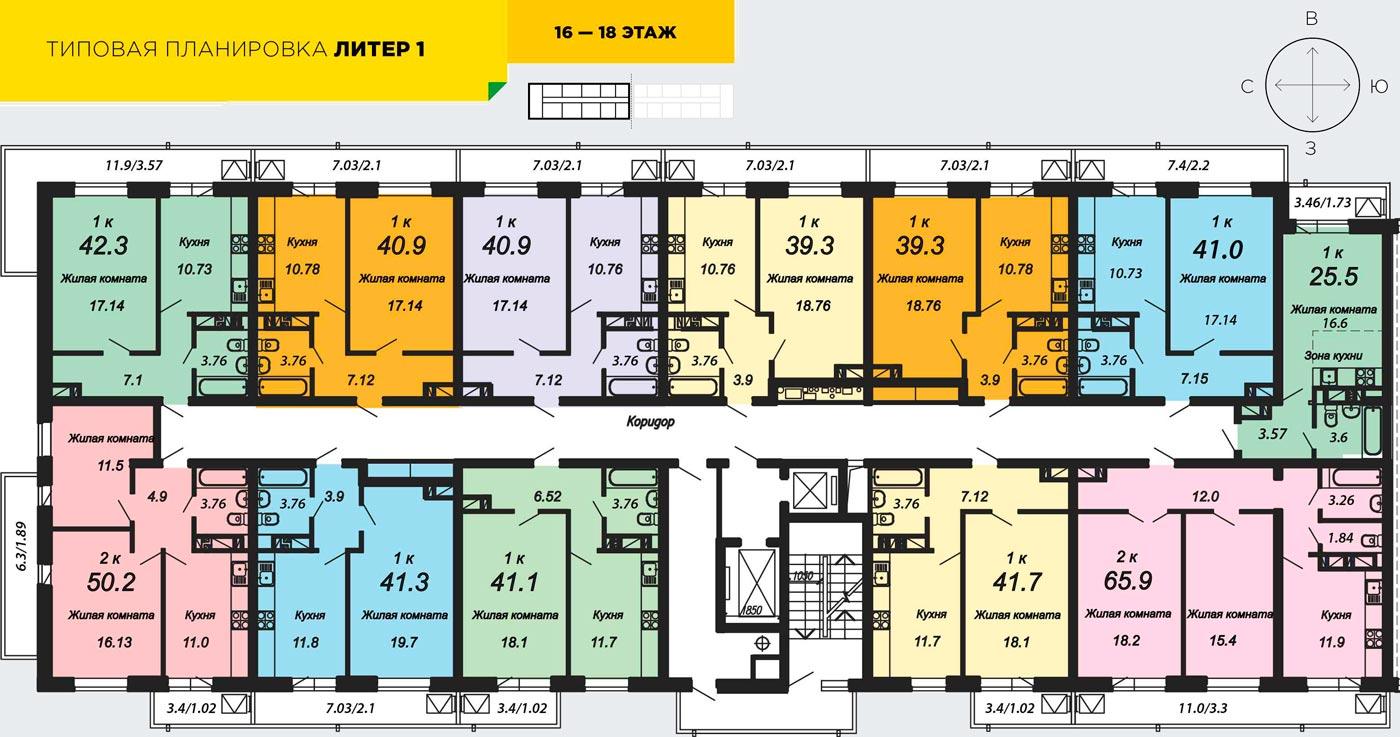 Расположение жилого комплекса «Трилогия»