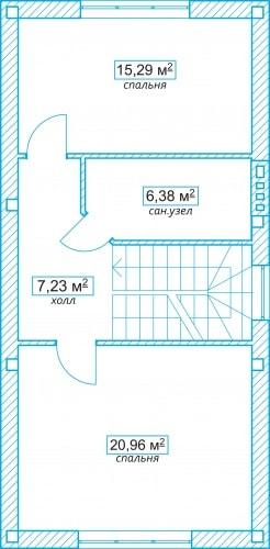 Планировочное решение 102 кв.м Второй этаж