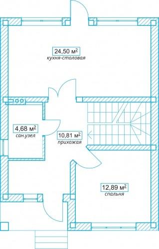 Планировочное решение 106 кв.м Первый этаж