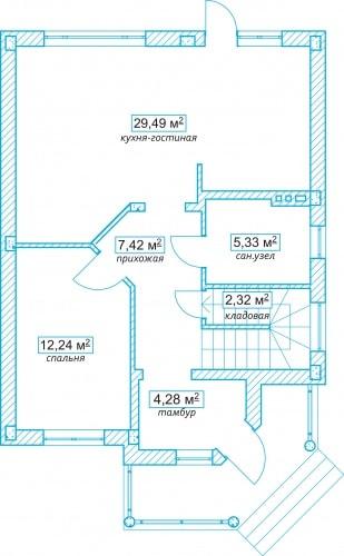 Планировочное решение 115 кв.м Первый этаж