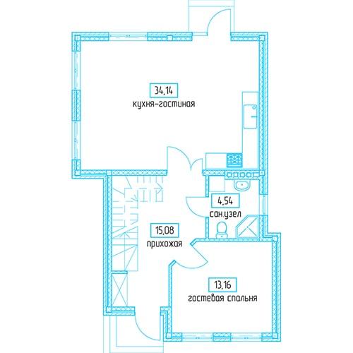 Планировочное решение 128,24 кв.м Первый этаж