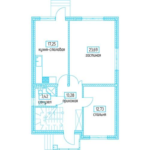 Планировочное решение 136,96 кв.м Первый этаж