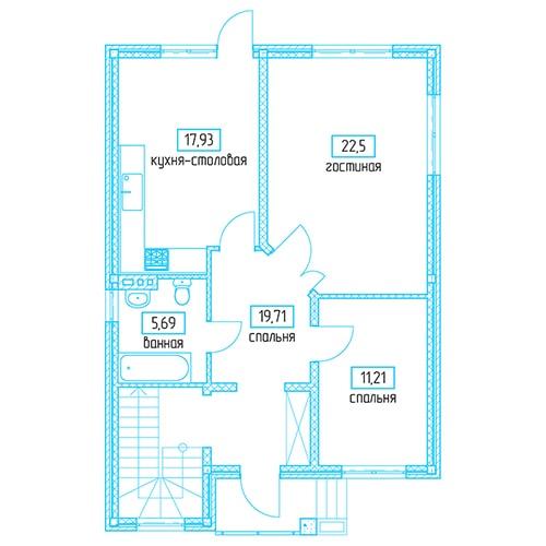 Планировочное решение 148,64 кв.м Первый этаж