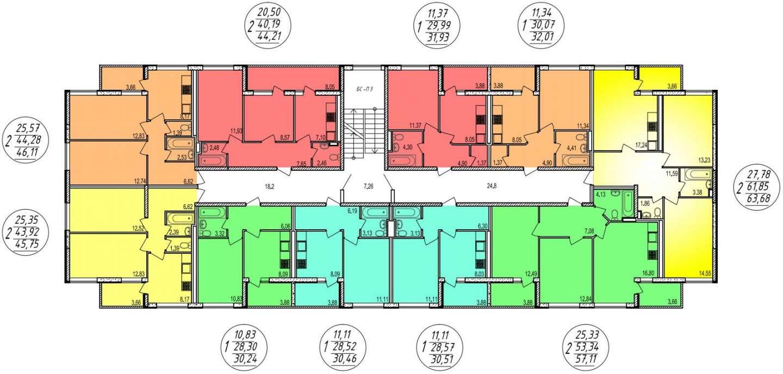 Планировочные решения комплекса «Дубровка»